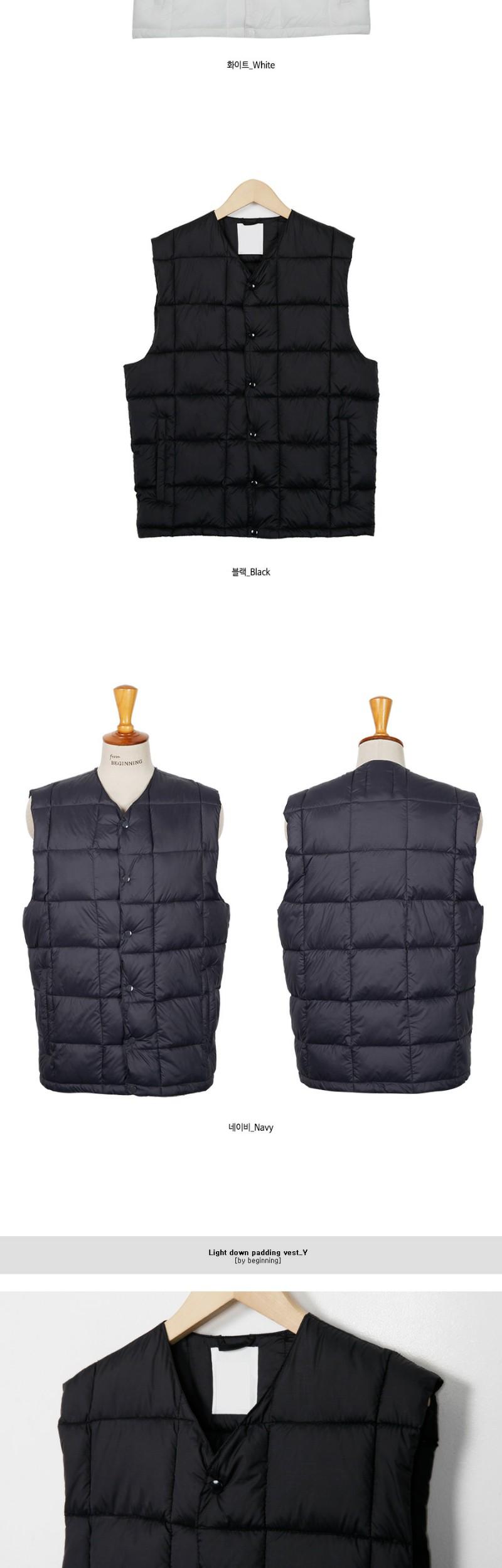 Light down padding vest_Y (size : M,L)