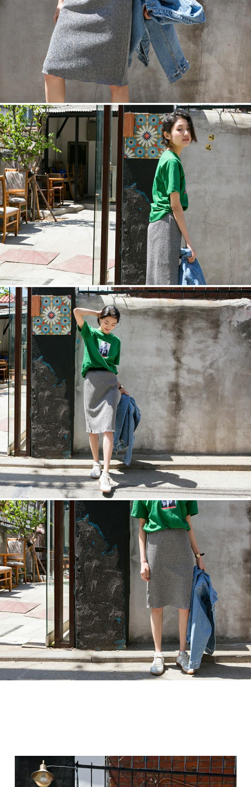 Made_bottom-105_metal banding skirt (size : free)