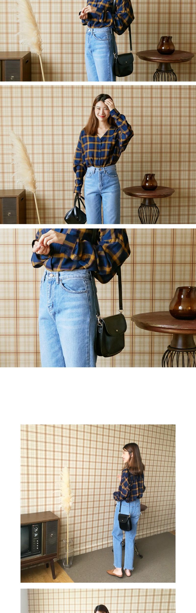 Vintage crack mini bag_M (size : one)