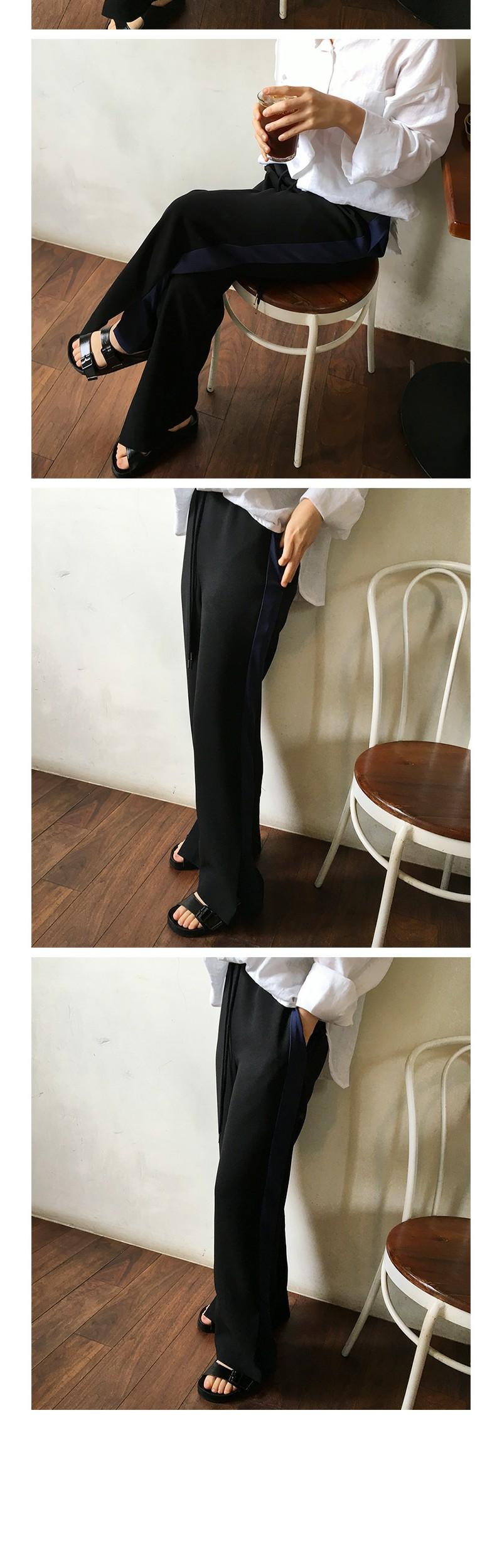 Made_bottom-106_slit track pants (size : free)