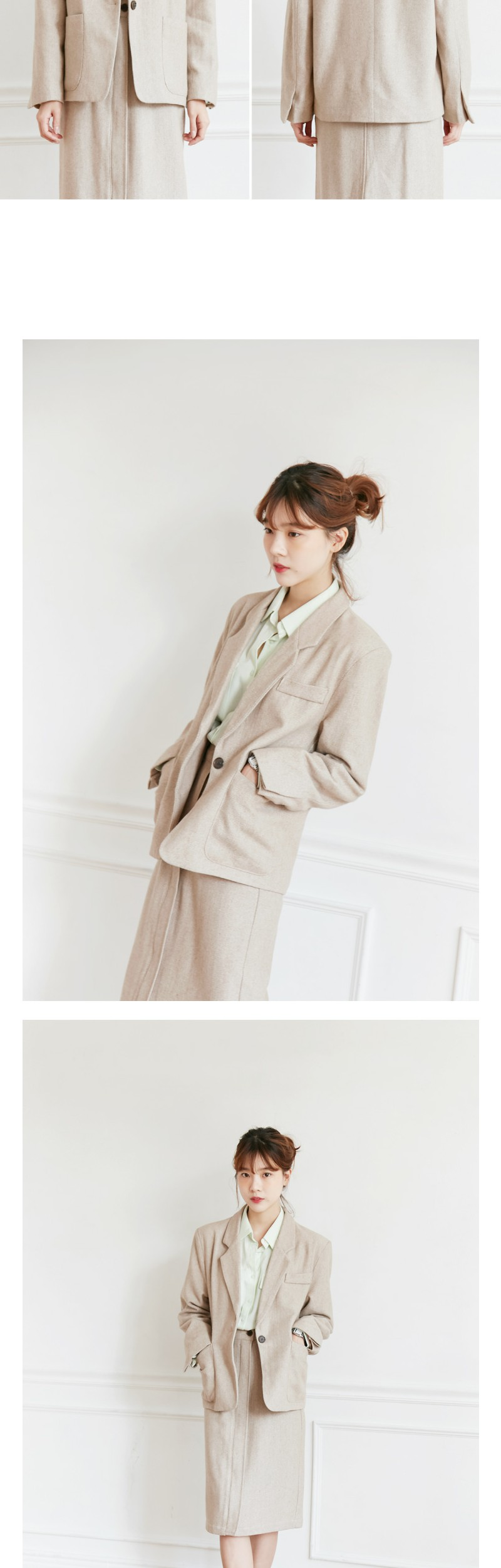 Comma herringbone jacket_S (size : free)