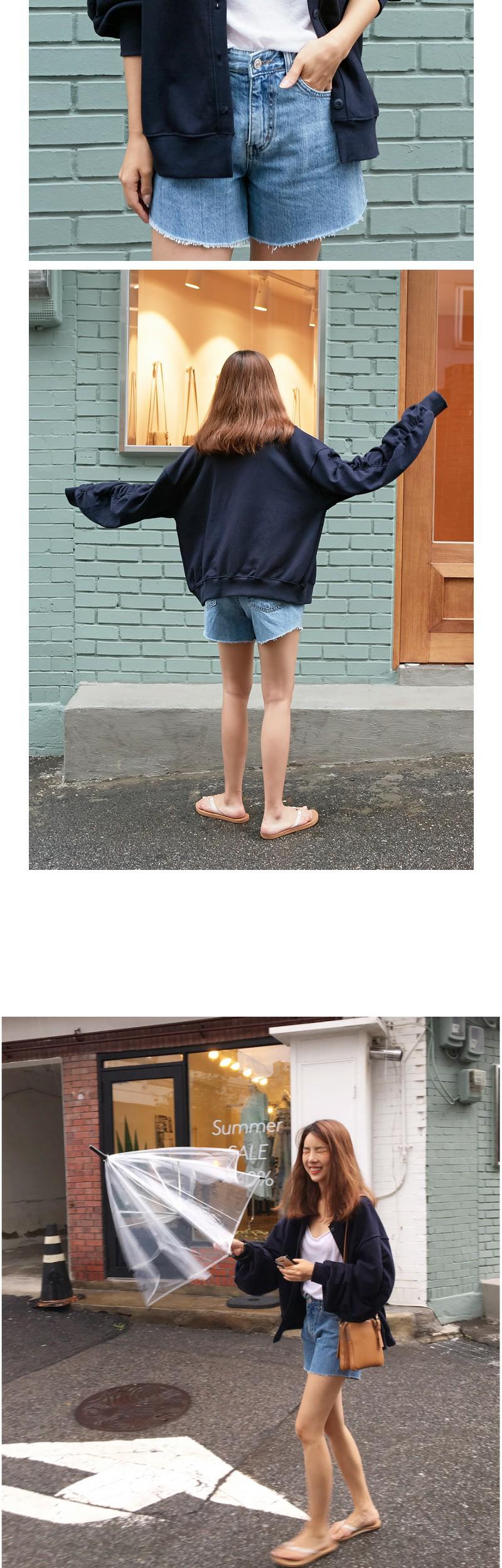 Stone washing cutting shorts_K (size : S,M,L)