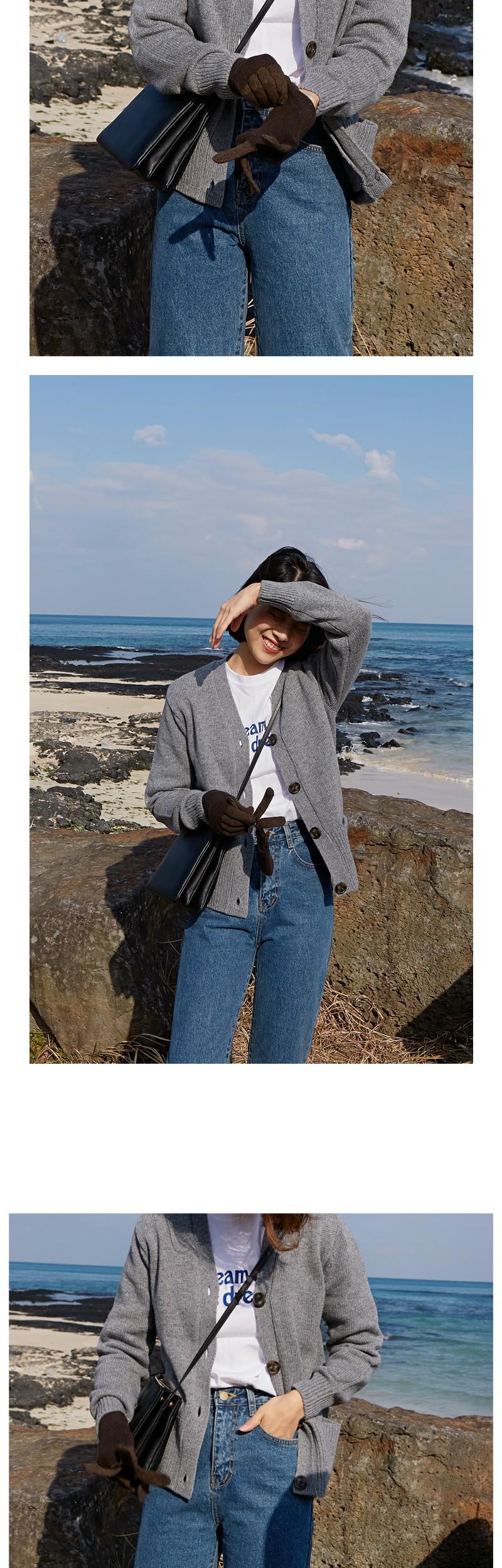 Wool pocket cardigan_B (size : free)