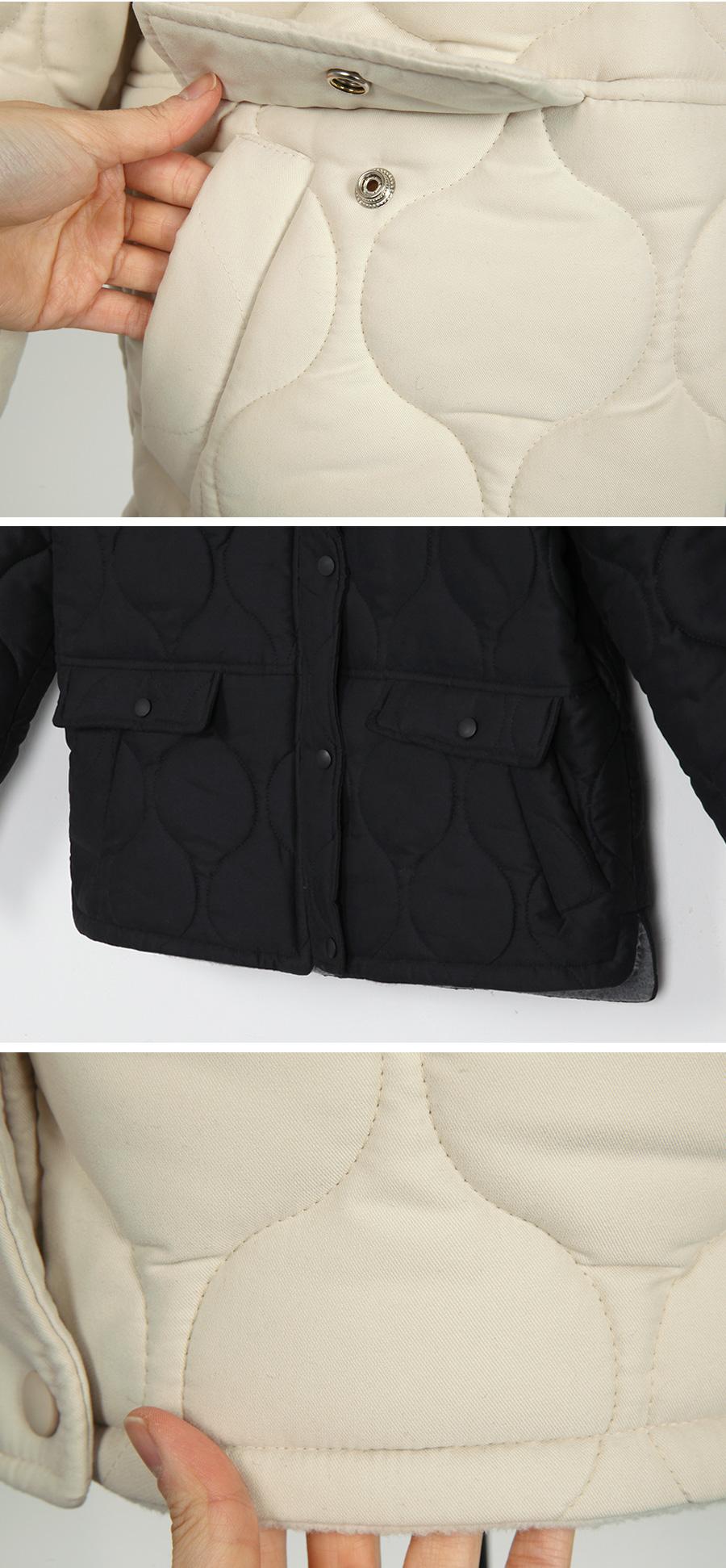 Wave fur collar jumper_B (size : free)
