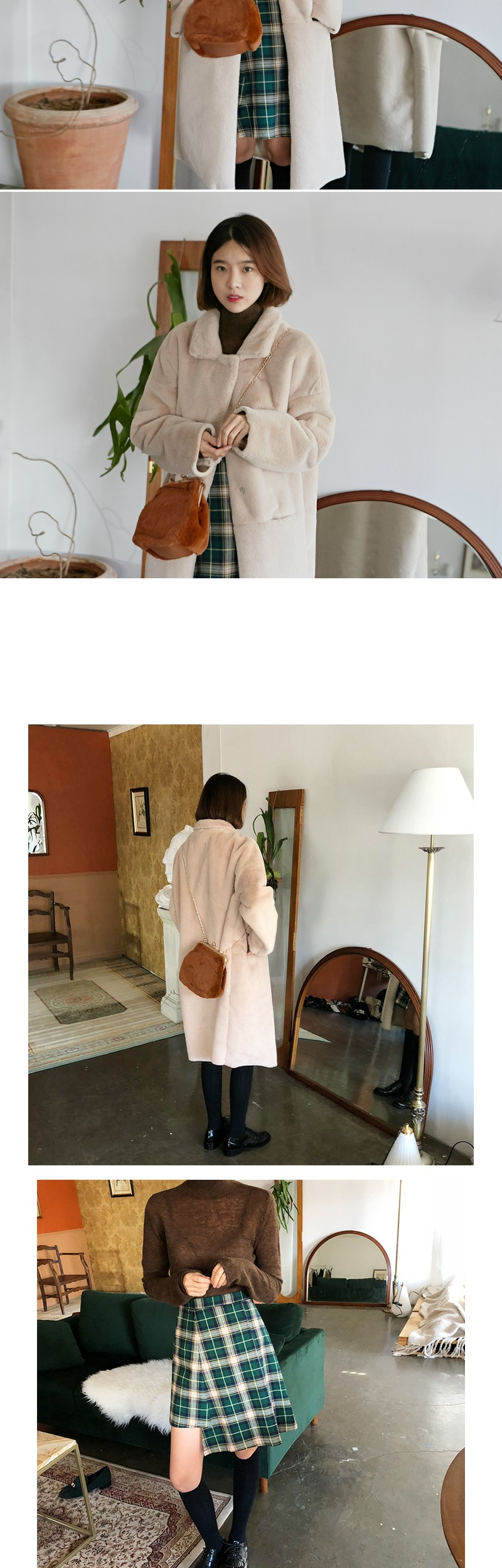 Soft fur coin bag_K (size : one)