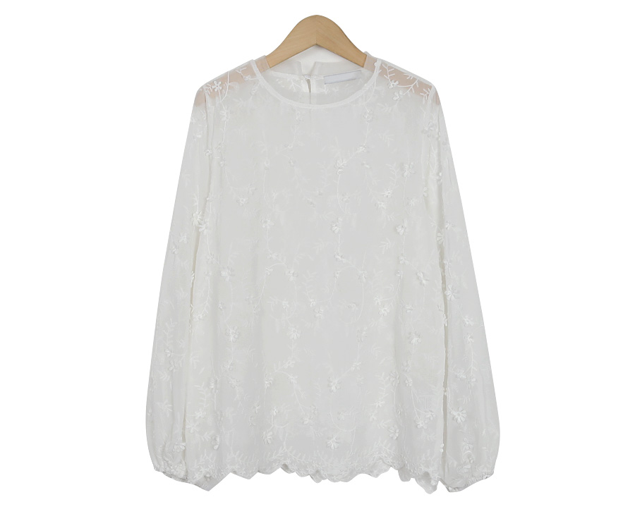 Rosy puff blouse_M (size : free)
