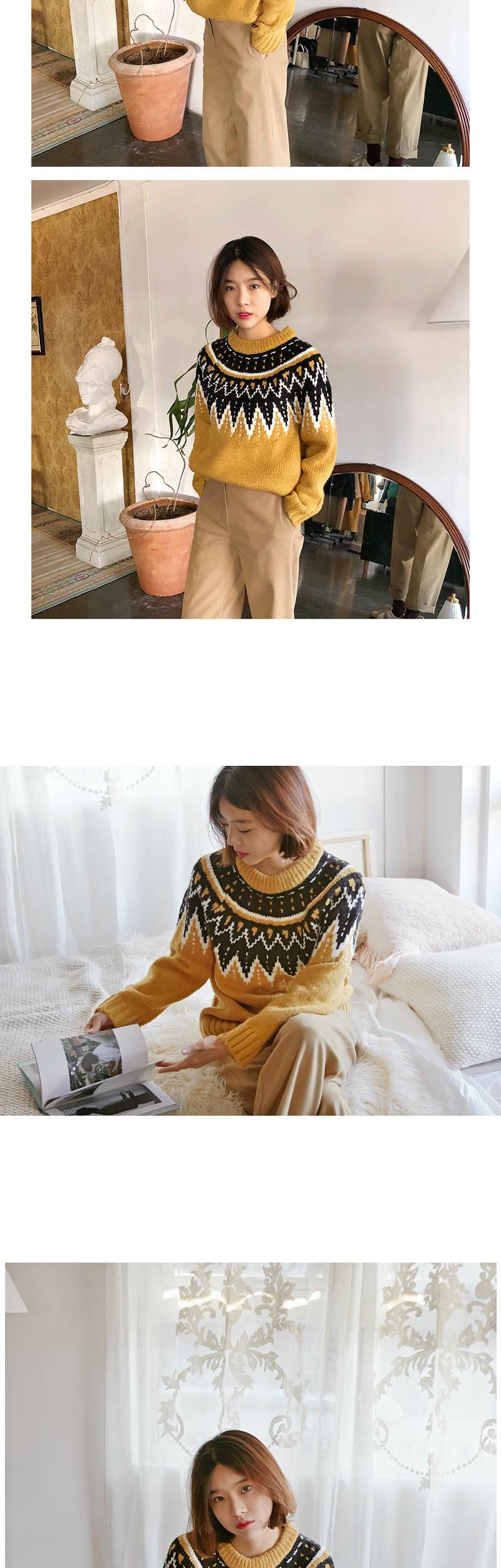Farm pattern knit_H (size : free)