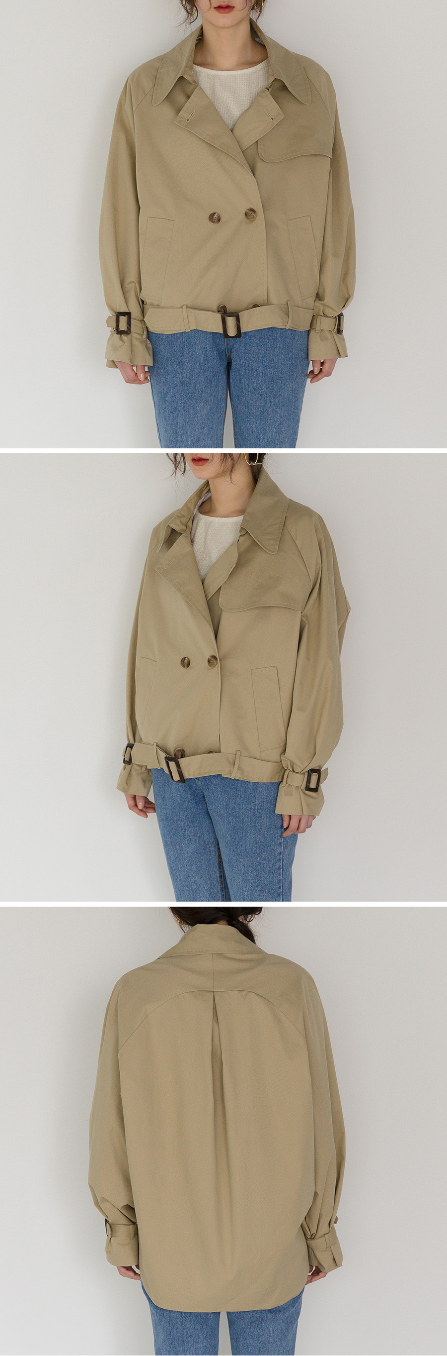 batwing sleeve trench jacket
