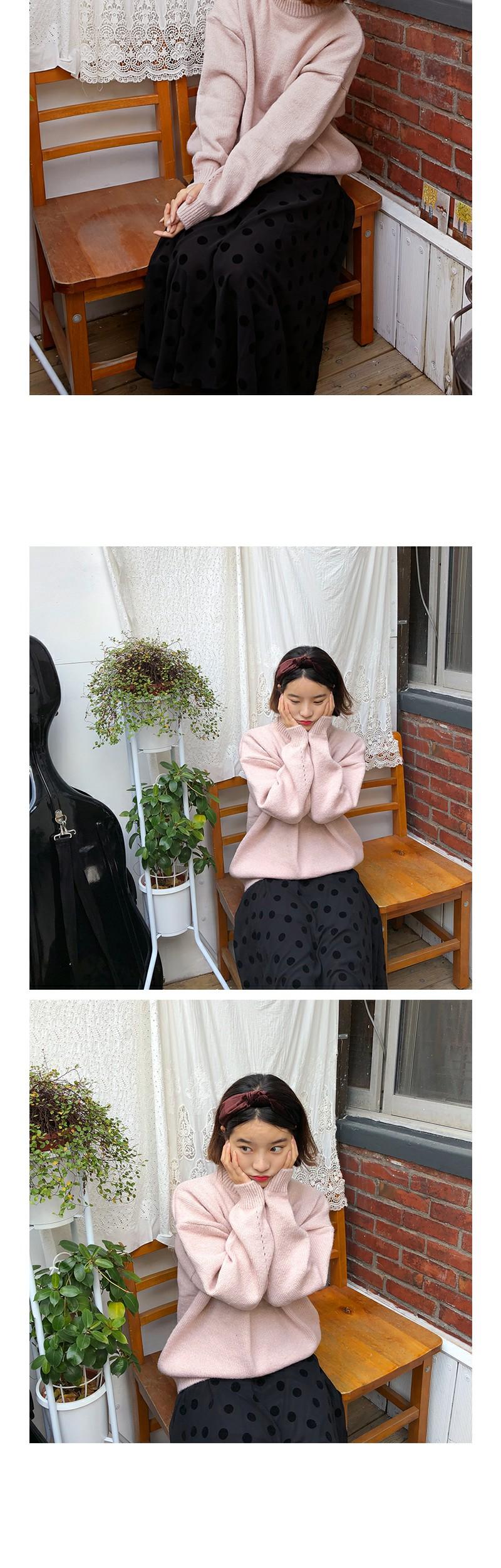 Flutter dot skirt_B (size : free)