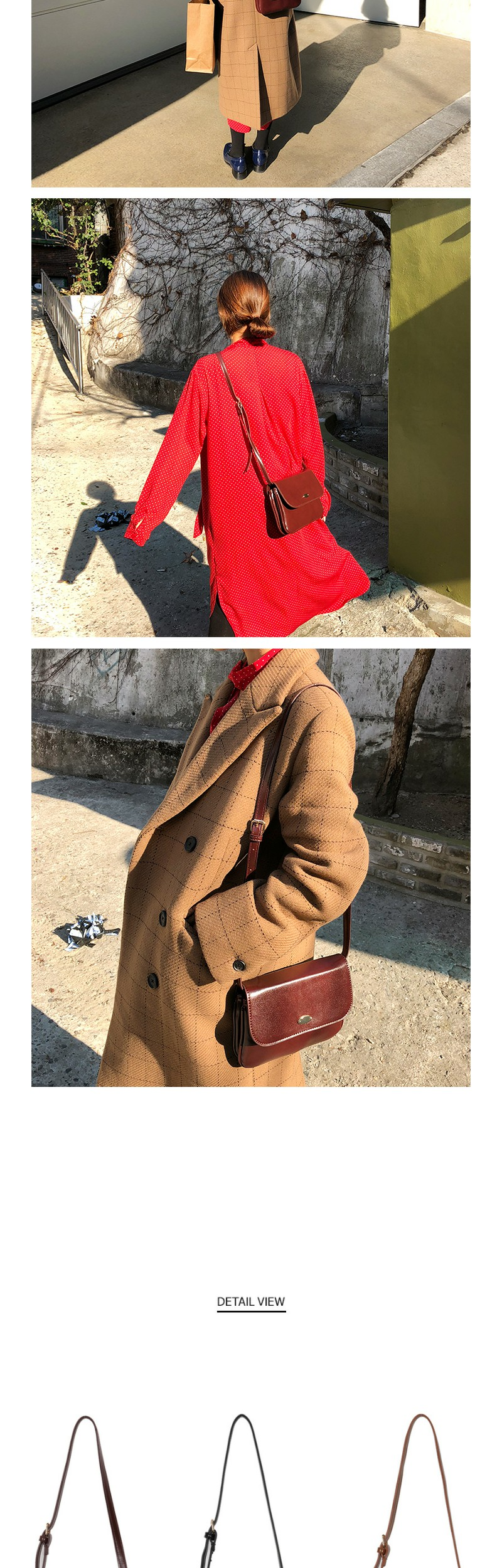 Mini buckle square bag_H (size : one)