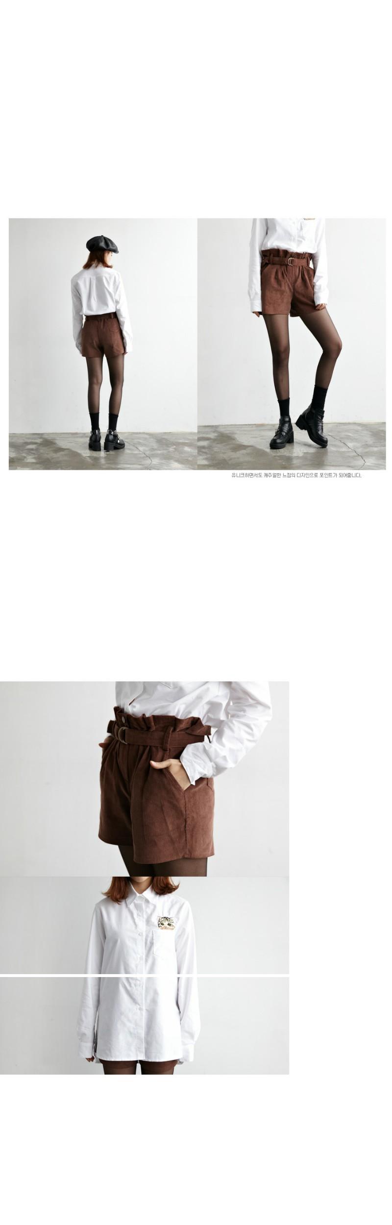 Corduroy pumpkin shorts