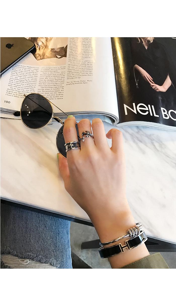 H. point wide bracelet