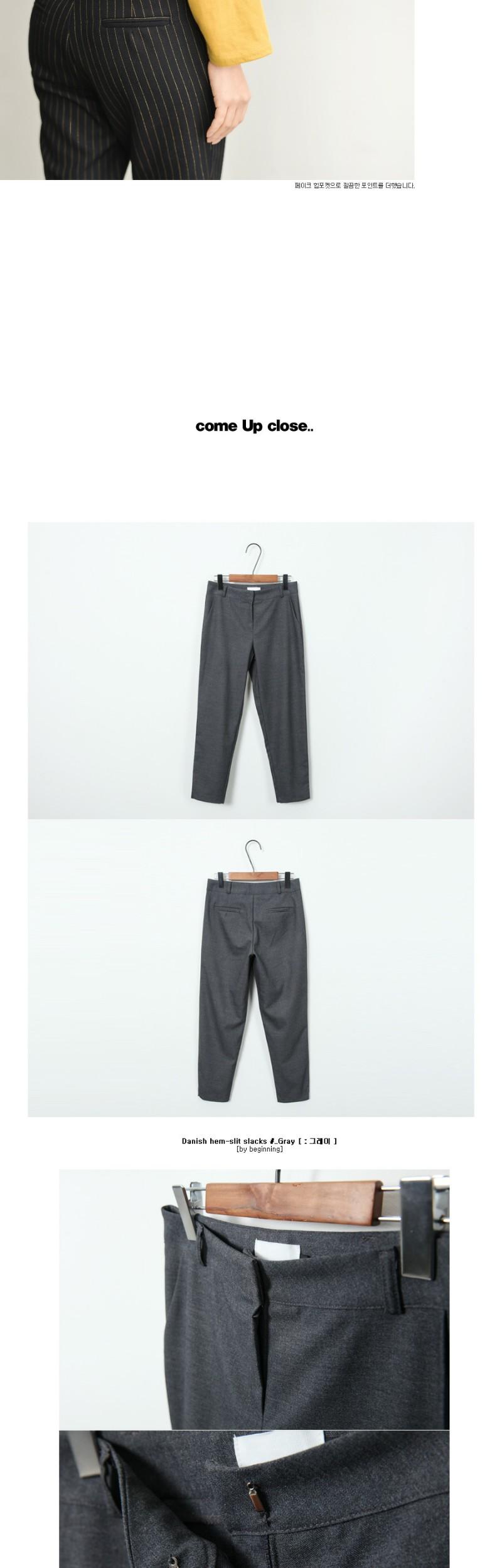 Danish hem-slit slacks