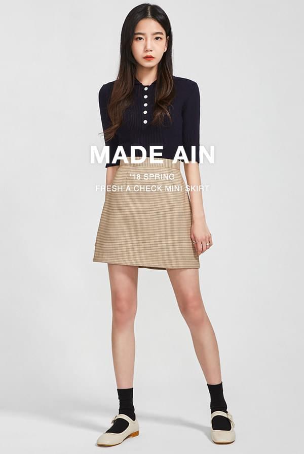 FRESH A check mini skirt (s, m)