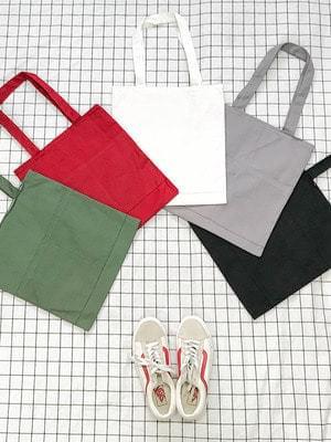 컬러 투 포켓 에코백 (bag136)