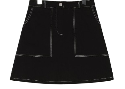 STITCH SET MINI SKIRTWITH CELEBRITY _ Hanmin wear