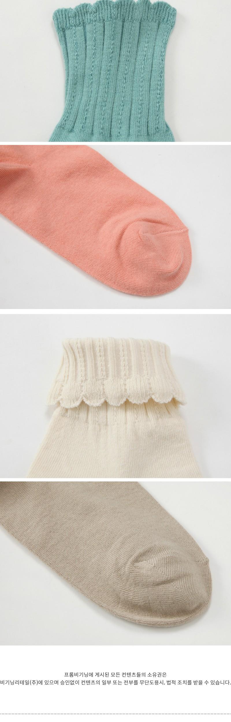 Wave cotton socks (size : one)
