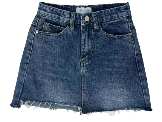 Mini Unguarded Blue Skirt