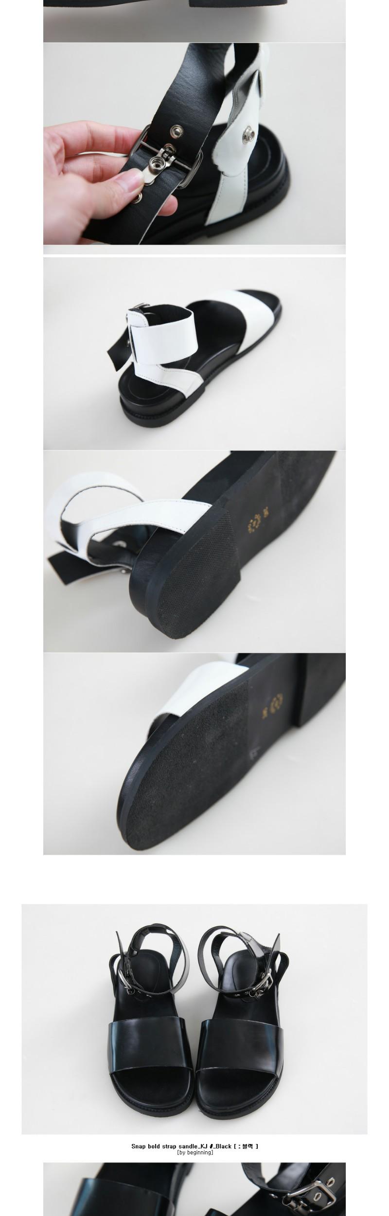 Snap bold strap sandle_KJ