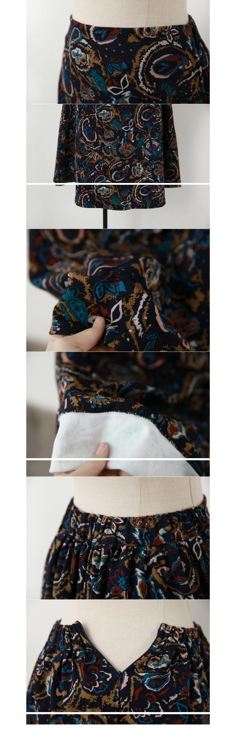 vintage pattern skirt