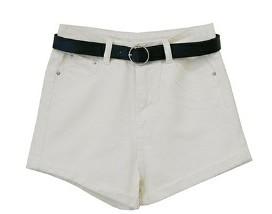 Cotton Belt Set Hot Pants