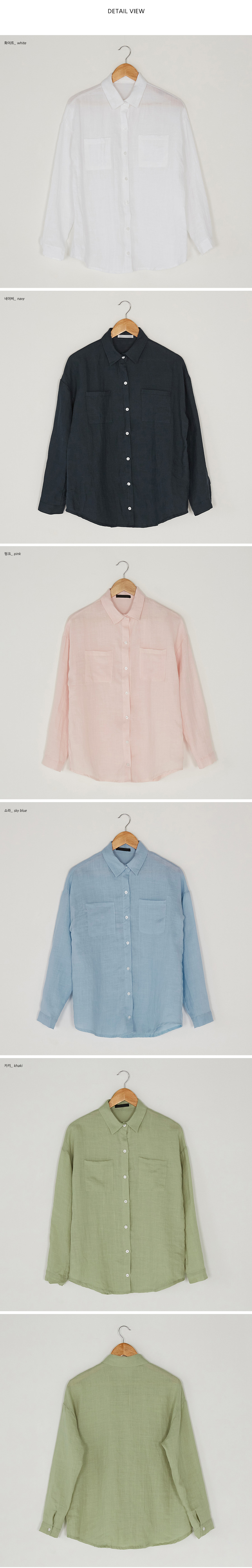 two pocket linen shirts