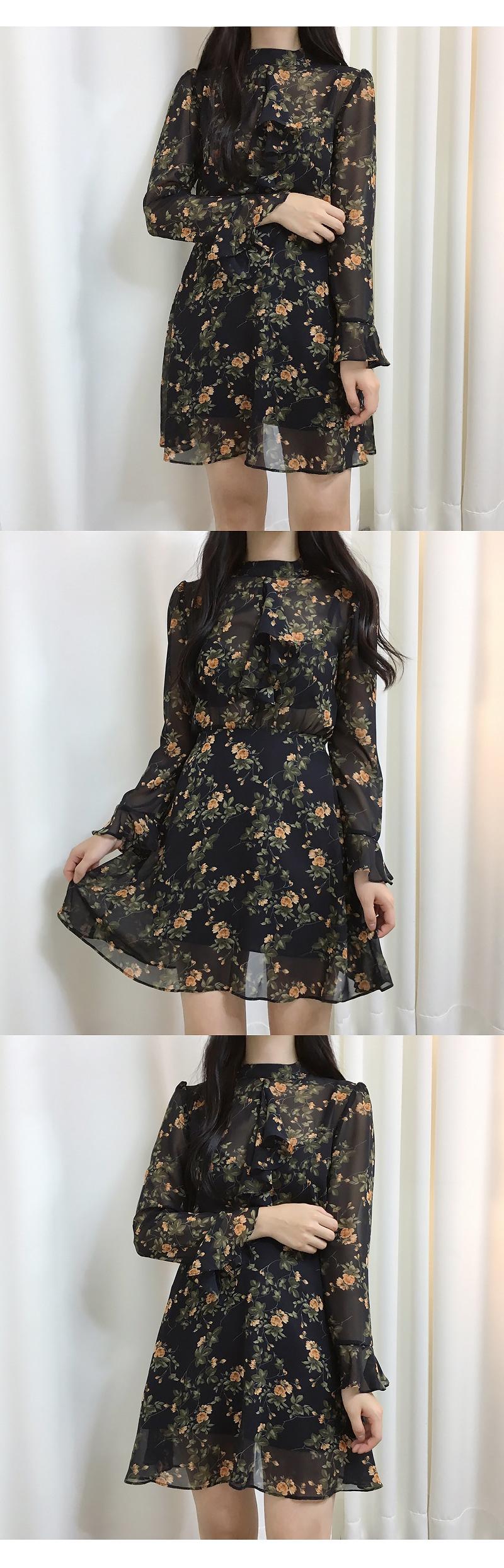 Floral Shisuru Flower Dress