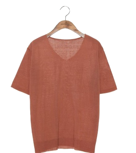 SOFT V NECK SILKET 1/2 KNIT