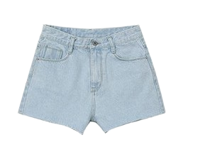 Short Simple Denim Pants