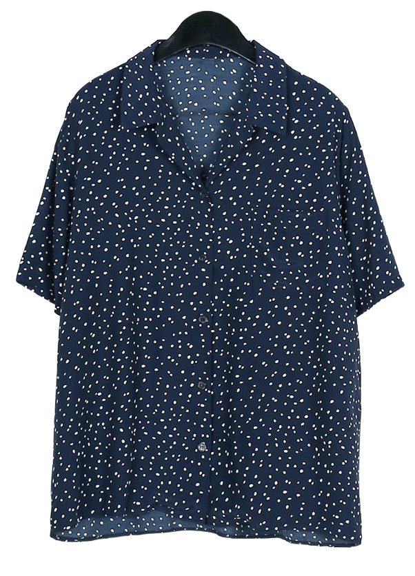 Silky dot blouse