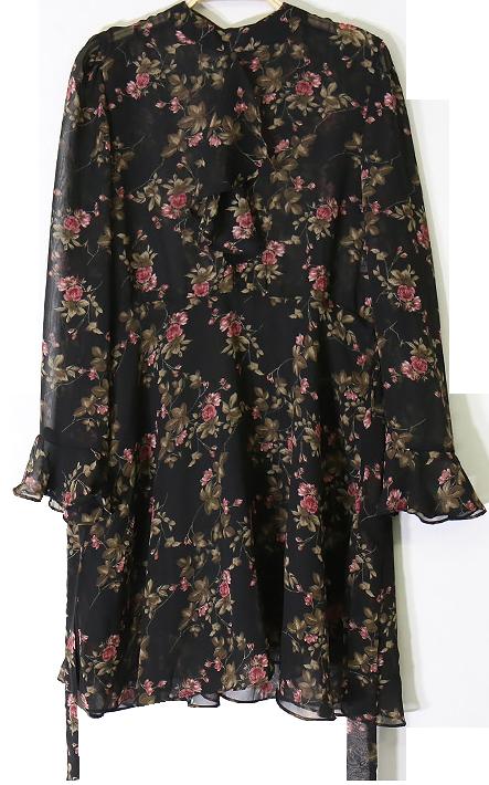 플로럴 시스루 꽃원피스(미니)