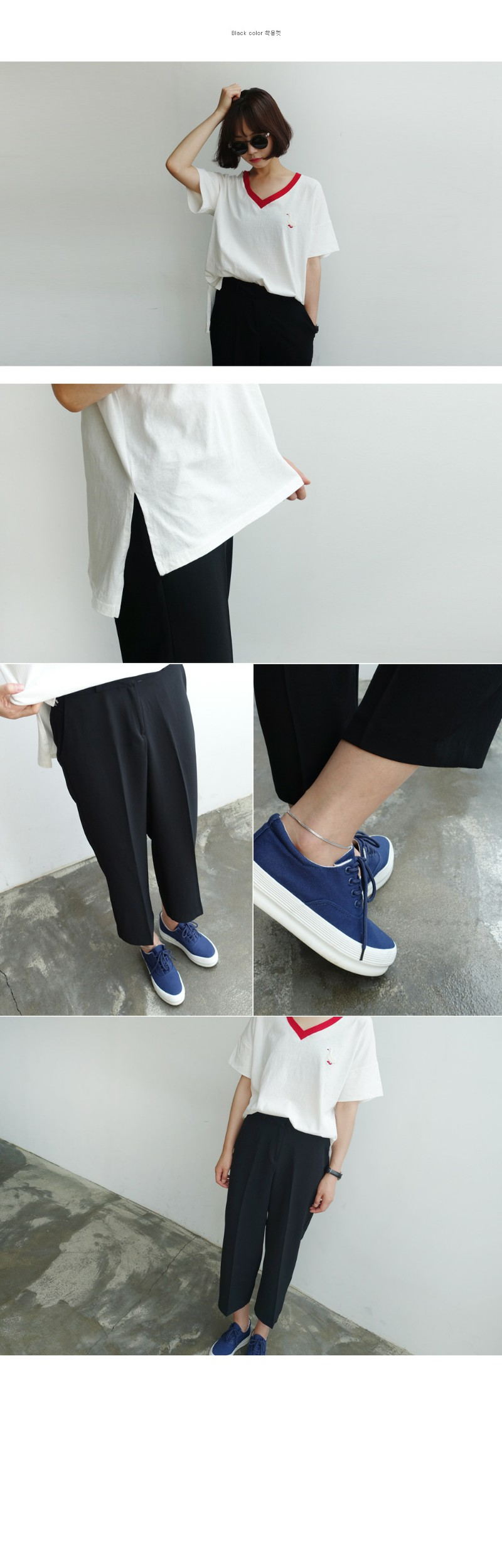 Right fit crop slacks_YK (size : S,M,L)
