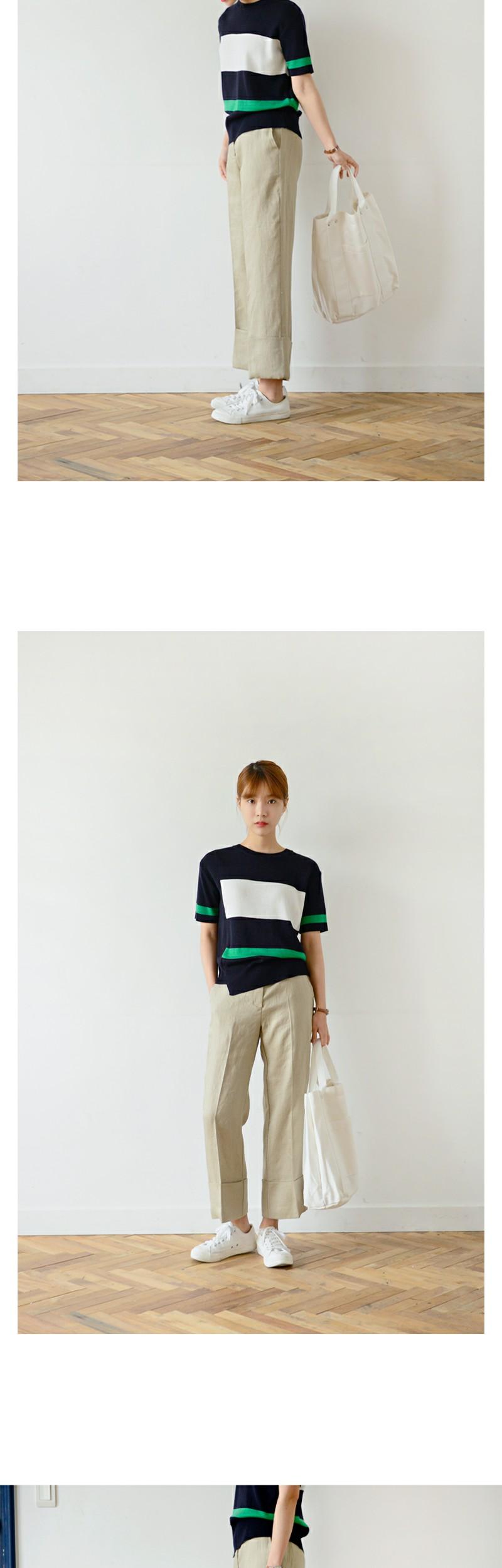 Block coloration knit_B (size : free)