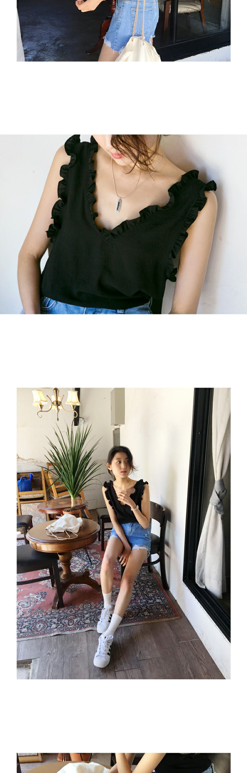 Vivien ruffle blouse_S