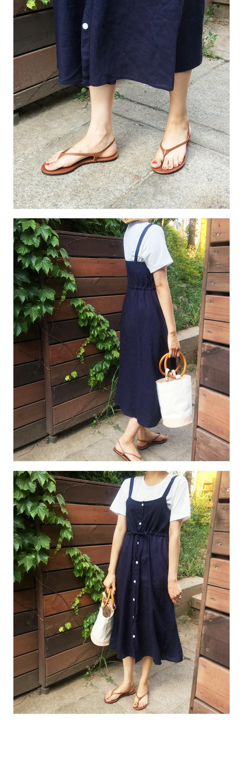 Ariel linen bustier ops_M (size : free)