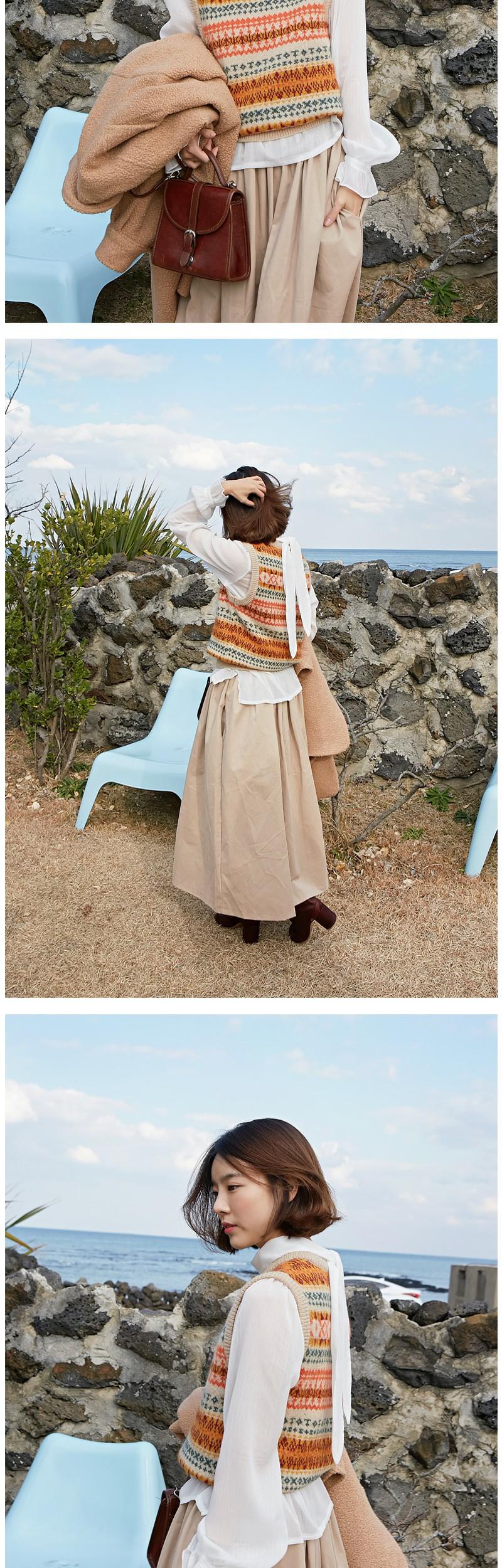 Wonder sheer ribbon blouse_H (size : free)