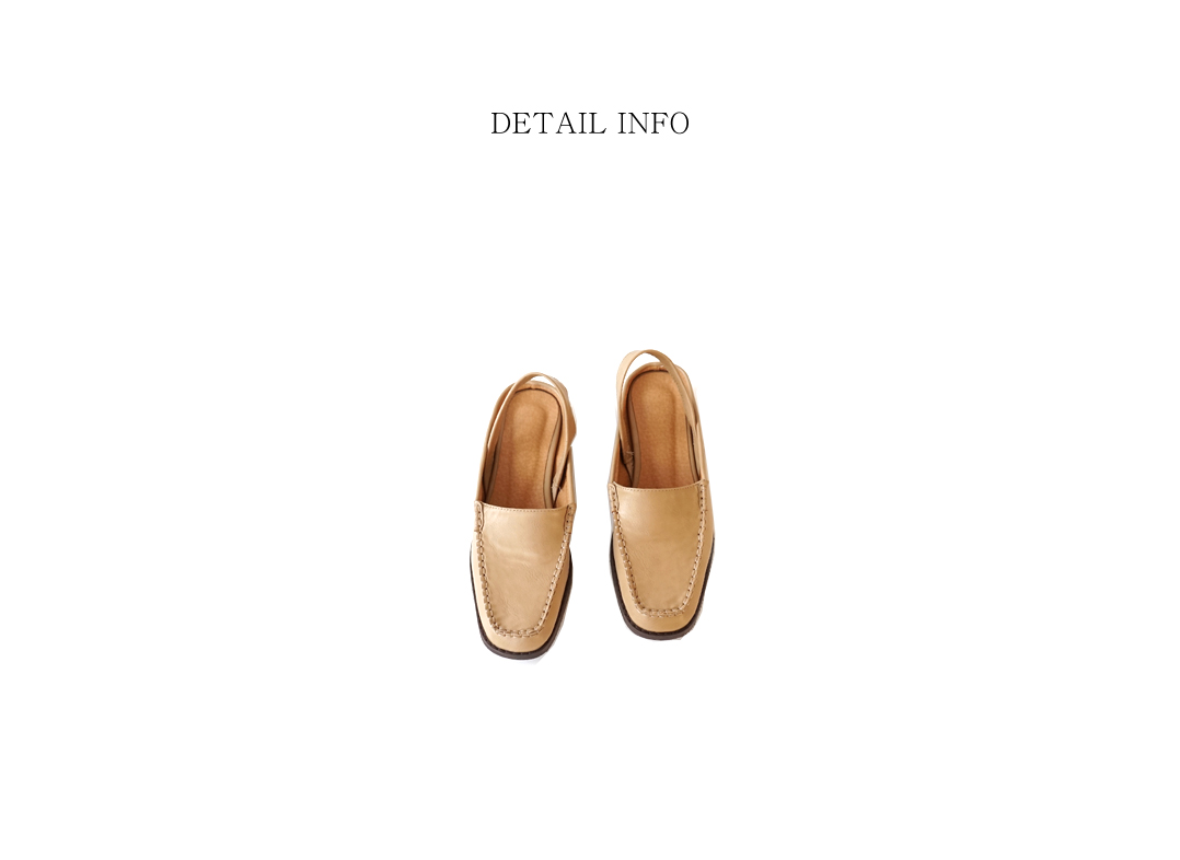 back open loafer sandals (3colors)