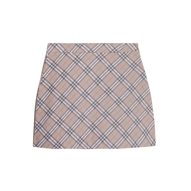 Classic check mini skirt
