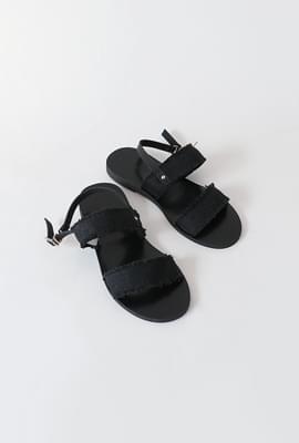 Organic fabric strap sandals