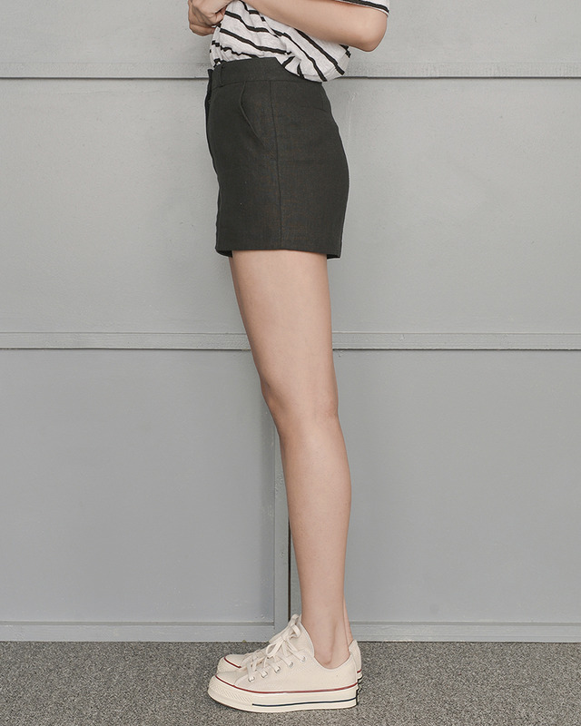 from linen shorts (4 color)
