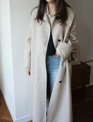 flared handmade long coat (3colors)
