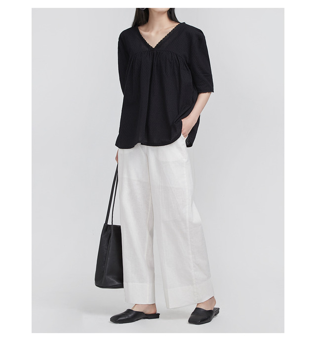 FRESH A wide linen slacks (4 colors)