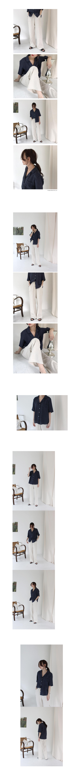 Half collar shirt (6color)