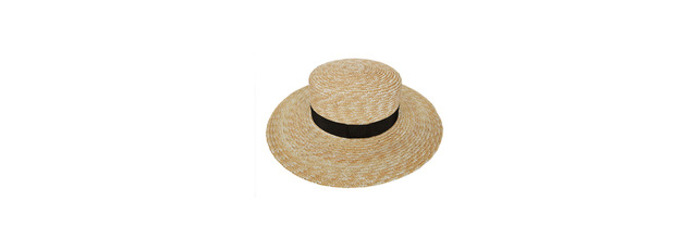 Band straw hat