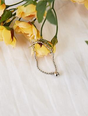 silver ball pendant bracelet