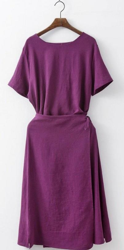 Aurora Blanc Wrap Linen Dress