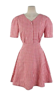 Red checked dress
