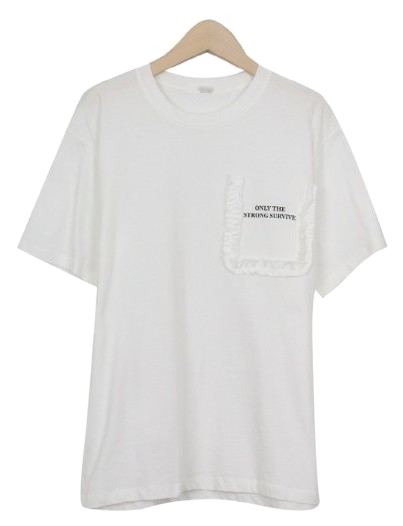 Pocket frill short sleeve tee