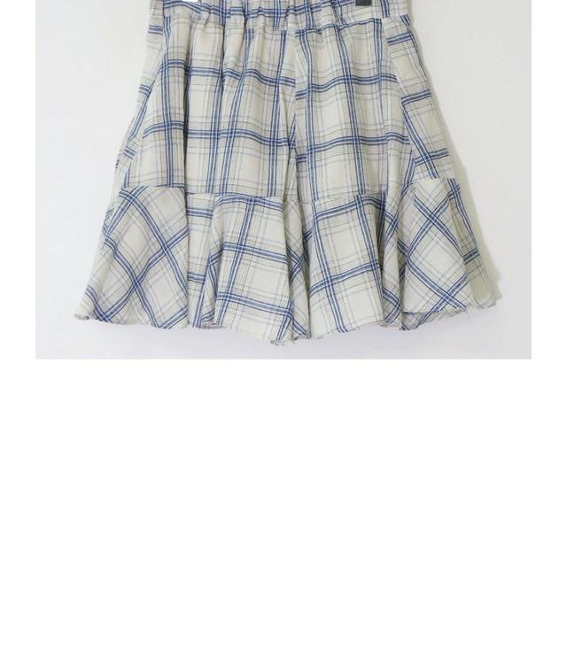 Vika check flared skirt