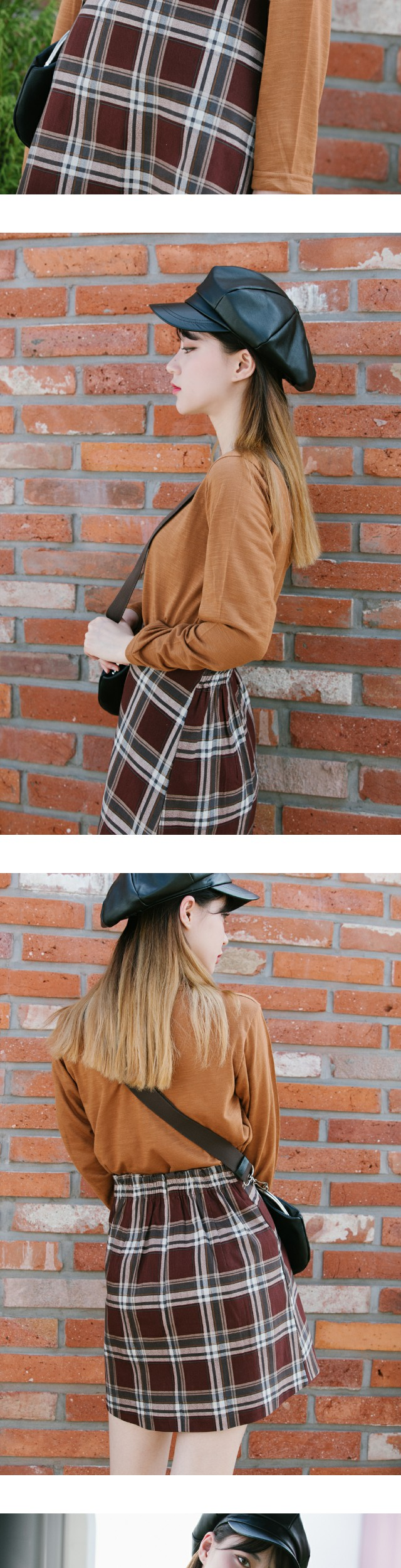 Cheek check skirt